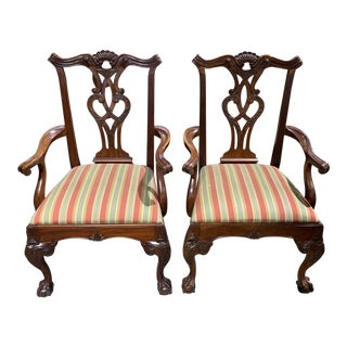 Henredon Side Chairs With Two Matching Arm Chairs- Set of 4 For Sale