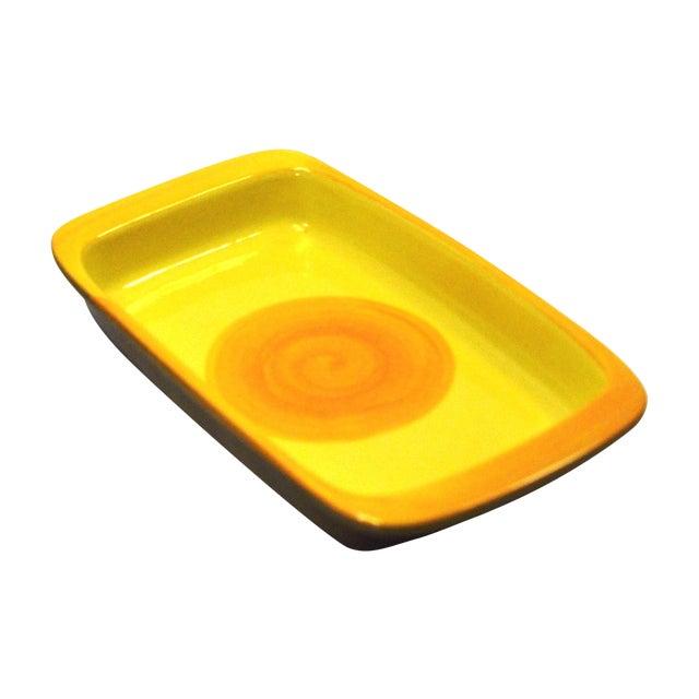 MCM Swedish Yellow/Orange Stoneware Tray - Image 1 of 6