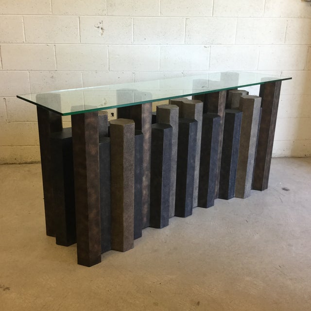 Brutalist Style Console Table For Sale - Image 11 of 12