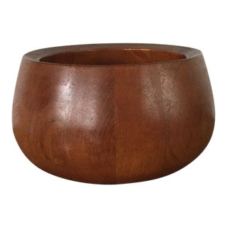 Danish Modern Dansk IHQ Jens Quistgaard Teak Bowl For Sale