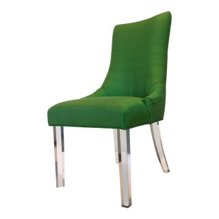 Green Silk Acrylic Chair