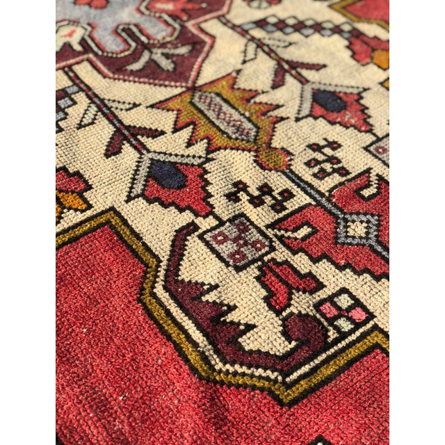 Textile 1950s Vintage Turkish Rug - 4′6″ × 9′ For Sale - Image 7 of 13