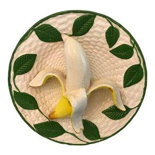 Vintage Trompe L'Oeil Banana Plate For Sale