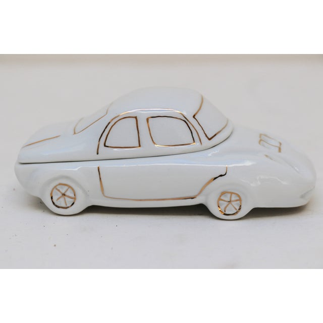 White Porcelain Car-Shaped Stash Box - Image 3 of 6