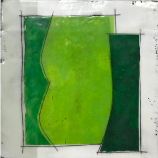"""Gina Cochran """"Perceptions No. 26"""" Encaustic Collage Painting For Sale"""