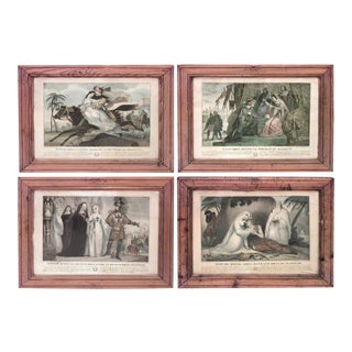 French Colored Lithographs of Mathilde - Set of 4 For Sale