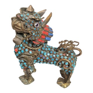 Chinese Dragon Bejeweled Censer For Sale