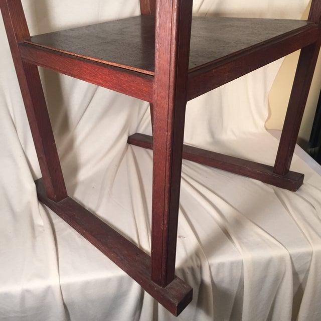 Modernist Oak Armchair - Image 4 of 6