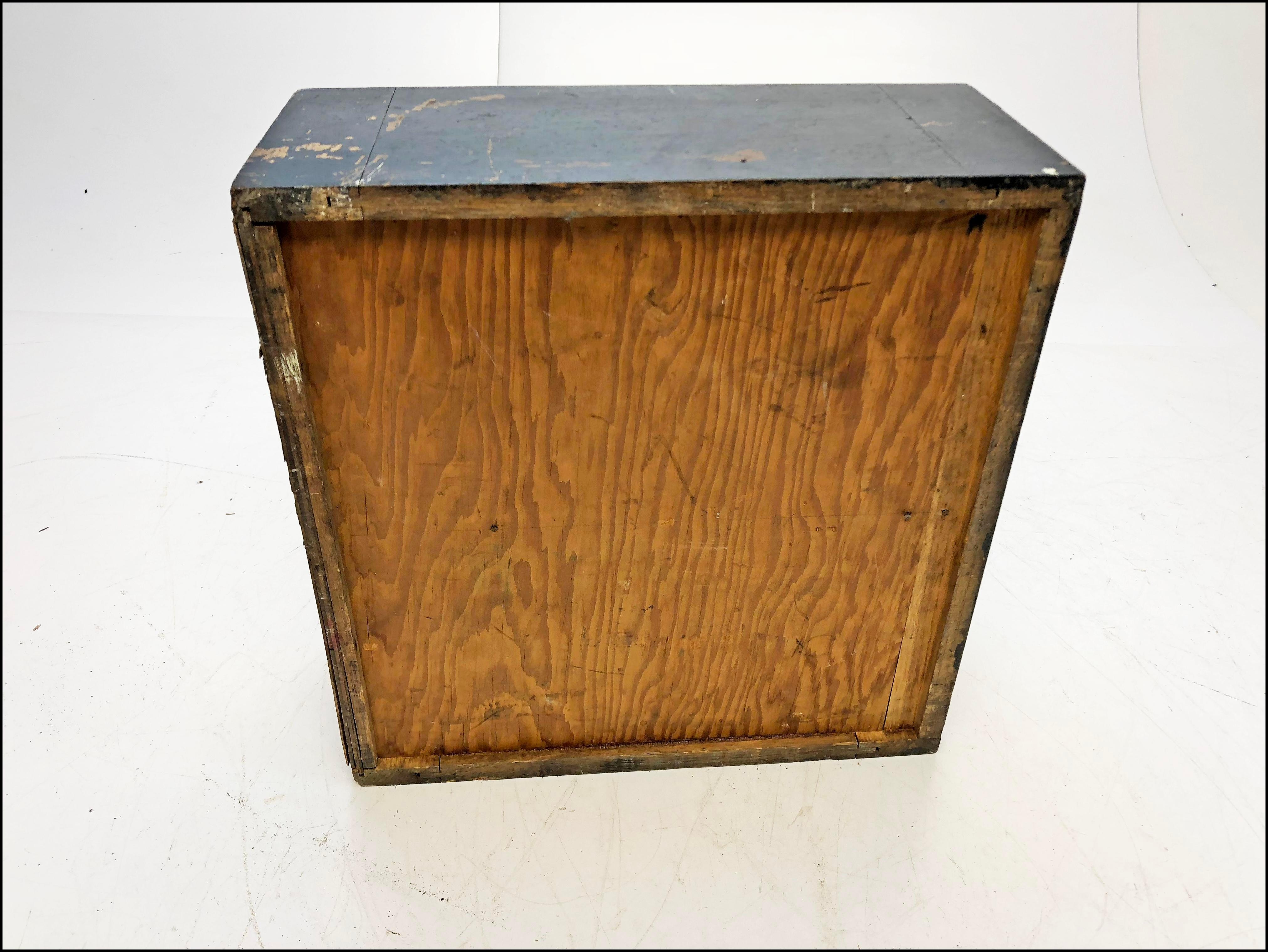 Vintage Distressed Black Wood 2 Drawer File Cabinet   Image 12 Of 13