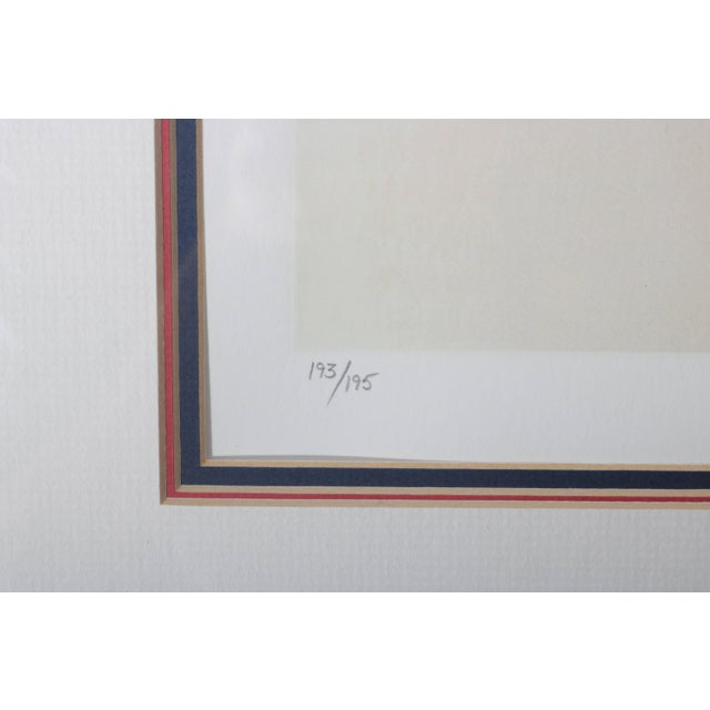 Late 20th Century Framed Lithograph Still Life of an American Diner Table Scape by Ralph Goings Ltd Ed For Sale - Image 5 of 8