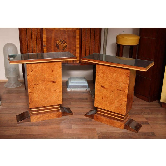 Pair of French Art Deco Side Tables For Sale - Image 10 of 10