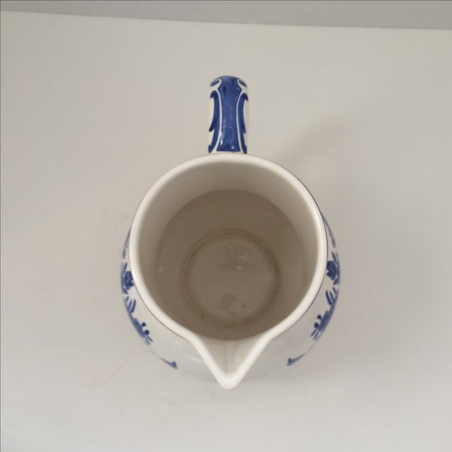 Tiffany & Co Delft Blue & White Pitcher - Image 4 of 6