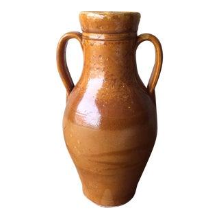"""Antique Glazed Earthenware Jar- 14.5""""h For Sale"""
