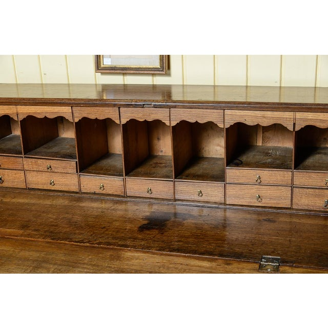 Antique Mid 19th Century Oak Slant Front Desk For Sale - Image 9 of 10