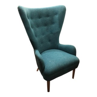 Mid Century Modern Wingback Chair For Sale
