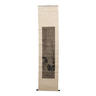 19th Century Chinese Hanging Scroll of Prunus Branches For Sale