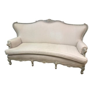 Antique Hand-Carved & Swedish Painted Frame Sofa For Sale