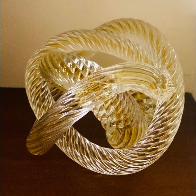 Italian Murono Glass Zanetti Twisted Love Knot For Sale - Image 3 of 6