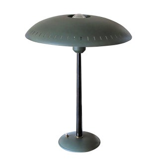 1960s Green Gray Louis Christiaan Kalff for Philips Table Lamp For Sale
