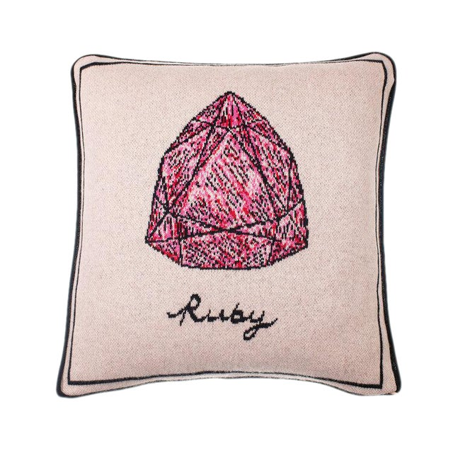 Fee Greening - Ruby Cashmere Pillow For Sale