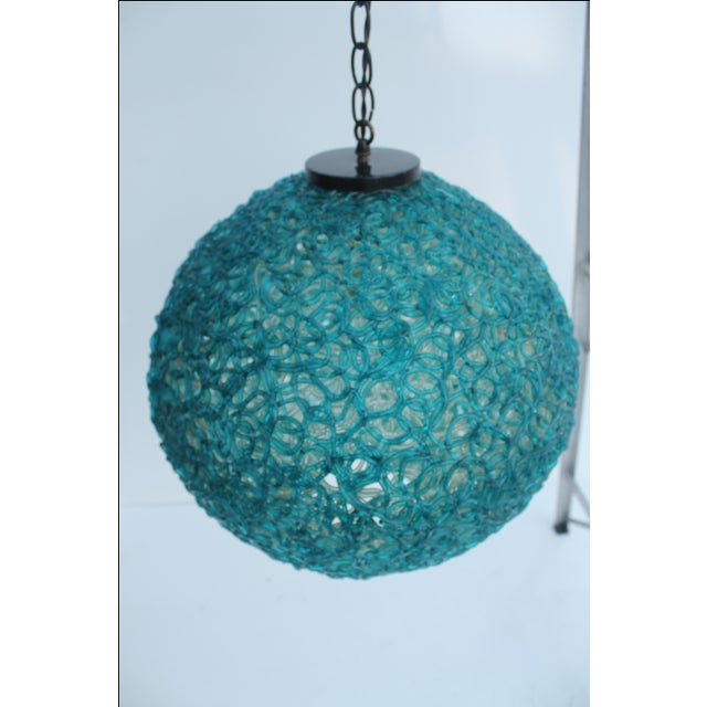 Vintage Blue Lucite Spaghetti Hanging Swag Lamp Chairish