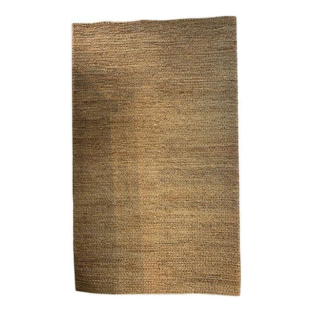 "Hand Woven Jute Rug-5' X 8'3"" For Sale"