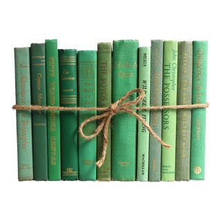 Mid-Century Green Books - Set Of