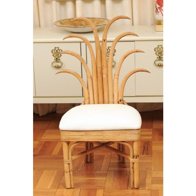 Jaw-Dropping Set of 8 Custom Made Palm Frond Dining Chairs, Circa 1950 For Sale - Image 12 of 13