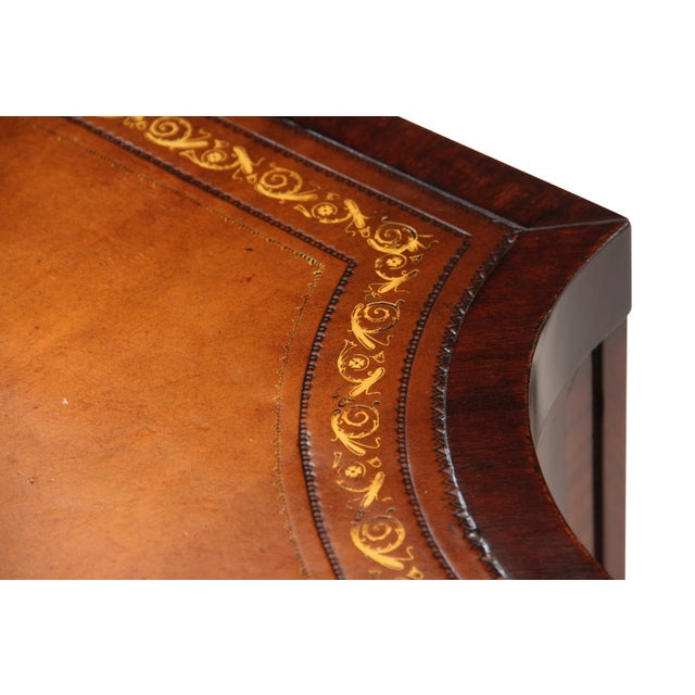 Revolving Mahogany Leather Top Bibliotheque - Image 3 of 7