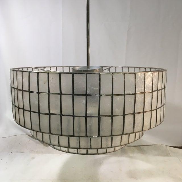West Elm Three-Light Tiered Modern Chandelier Light For Sale - Image 11 of 11