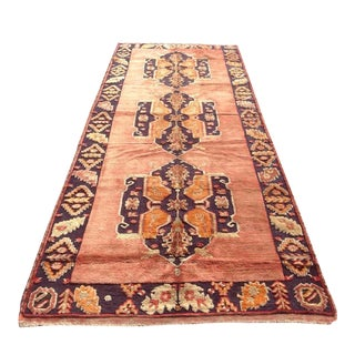 "Vintage Hand Knotted Anatolian Rug - 5'1"" X 12'7"" For Sale"