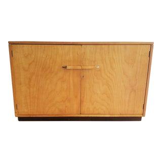1940's Mid Century Art Deco Birch Cabinet by John Stuart for Johnson Furniture For Sale
