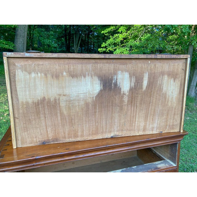 Antique 18th Century Colonial Chest on Stand For Sale - Image 9 of 10