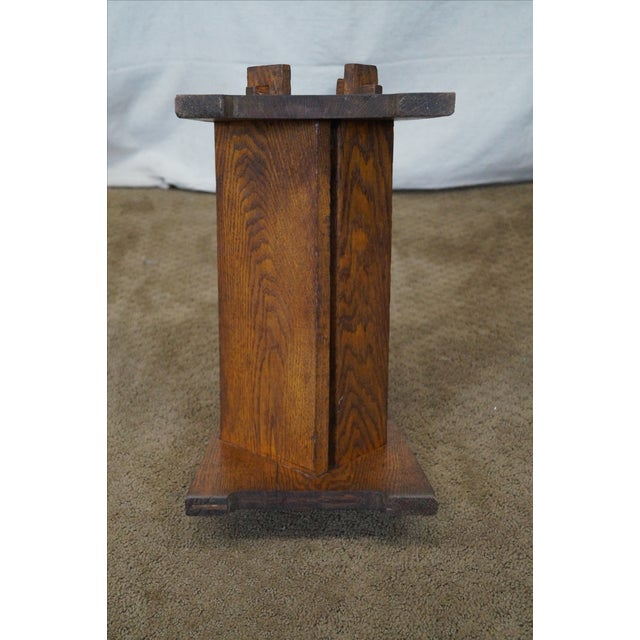 Antique Mission Oak Book Rack - Image 10 of 10