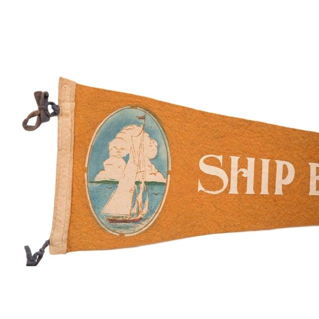 Americana Ship Bottom NJ Long Beach Island Felt Flag For Sale - Image 3 of 3