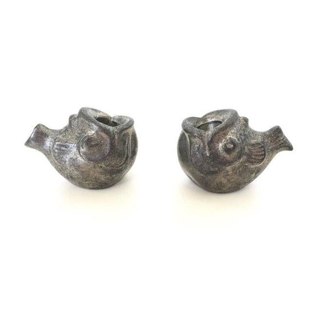 Silver Just Andersen Miniature Fish Candle Holders - A Pair For Sale - Image 8 of 10