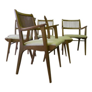 Drexel Mid Century Modern Dining Chairs by John Van Koert, Set of 6