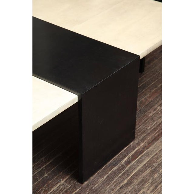 Custom Goatskin Two-Tone Cocktail Table For Sale - Image 9 of 10