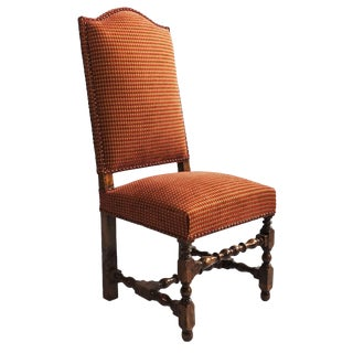 1960s Vintage English Turned Wood Side Chair For Sale