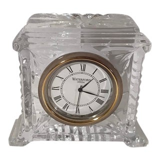 Vintage Waterford Crystal Desk Clock For Sale