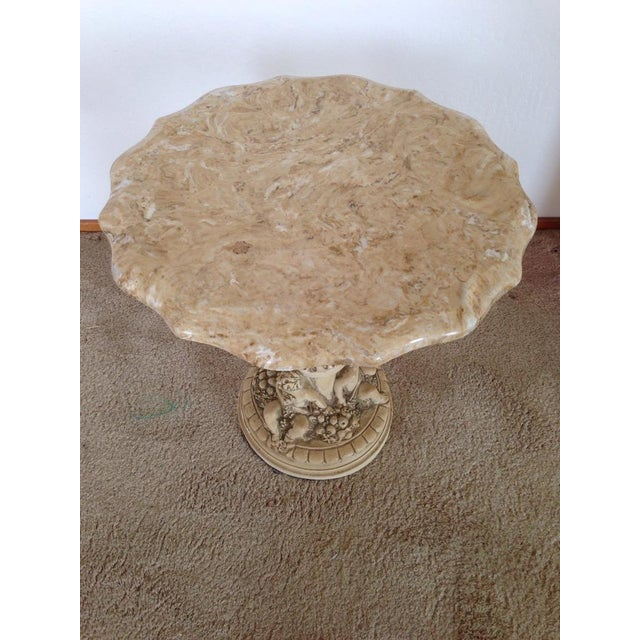 Italian Carved Marble Top Table - Image 2 of 5