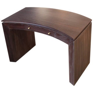 Jay Spectre Style Cerused Oak Curved Desk For Sale