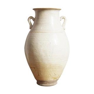 White Milk Pottery Jug Vase For Sale