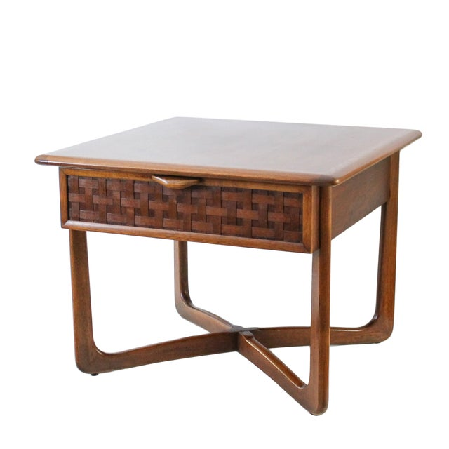 Mid-Century Lane Perception X-Base End Table - Image 1 of 10