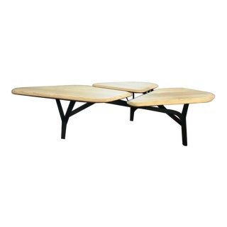 La Chance Mid-Century Borghese Oak Top Coffee Table For Sale