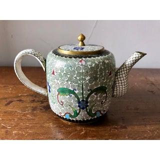 Vintage White Cloisonné Tea Set Preview