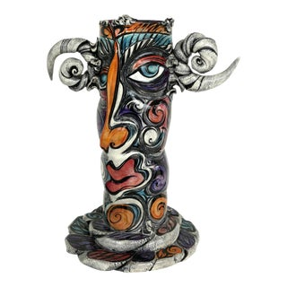 Buxton/Taylor Studio Abstract Ceramic Totem Sculpture/Vase For Sale