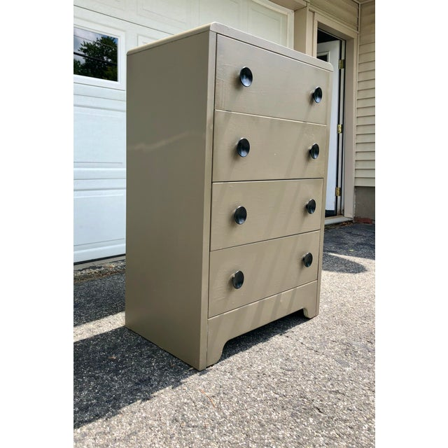 Art Deco Art Deco Metal Industrial Tall Dresser by Joseph Turk 1930's For Sale - Image 3 of 13