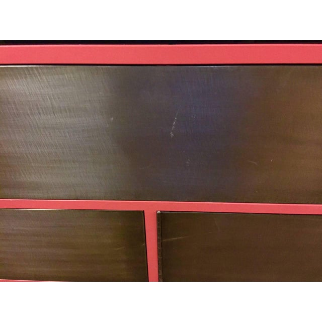 1990s Custom Steel Wood and Glass Cabinet For Sale - Image 5 of 8