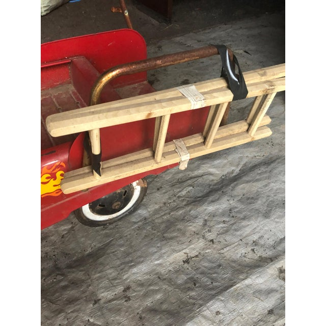 American Vintage Fire Engine Toy Pedal Car With Ladders For Sale - Image 3 of 8